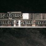 Righe di caratteri nel compositoio