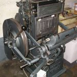 Macchina per la stampa tipografica, platina