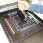 L'inchiostrazione della forma di stampa